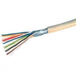 SHIVERPEAKS Câble téléphonique, gris, 100 m, 4 fils