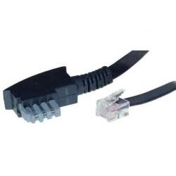 SHIVERPEAKS Câble téléphonique, noir, 6 m