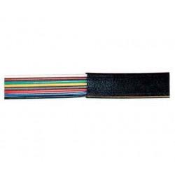 SHIVERPEAKS Cable téléphonique, plat, noir, 100 m