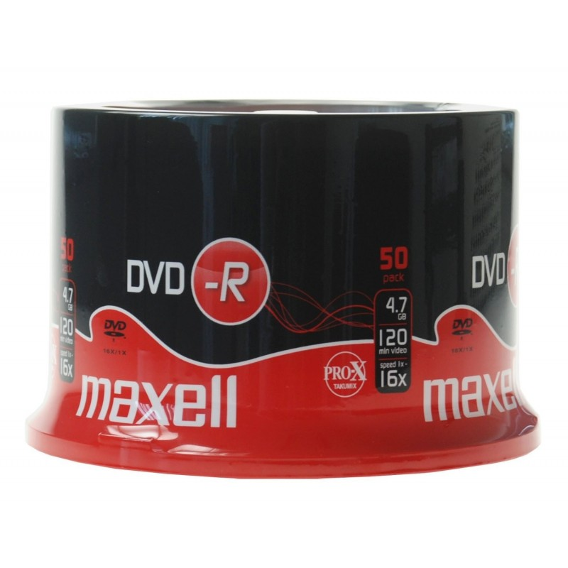 MAXELL DVD-R 120 minutes, 4,7 GB, 16x, spindle de 50