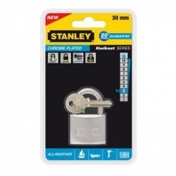 STANLEY Cadenas traité anti-corrosion, largeur: 30 mm, étrier court