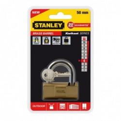 STANLEY Cadenas laiton à barillet 50 mm 2 clés Or