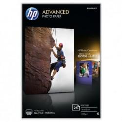 HP Etui de 25 feuilles Papier Photo brillant sans bord 250g 10x15 cm Blanc