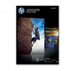 HP Paquet de 25 feuilles Advanced Photo Paper Brillant A4 250g Blanc