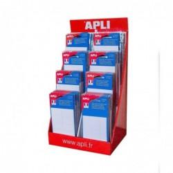 AGIPA Présentoir de 160 pochettes d' étiquettes blanches tailles assorties