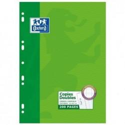 OXFORD Copies doubles perforées A4 Séyès 200 pages (50 copies) 90g
