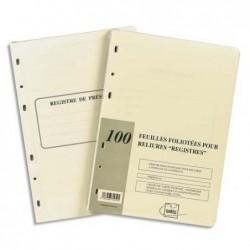 EXACOMPTA Recharge de 100 feuillets A4 80g pour reliure juridique 4 ou 6 anneaux