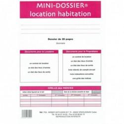 """WEBER Formulaire français """"Mini dossier location-habitation"""""""
