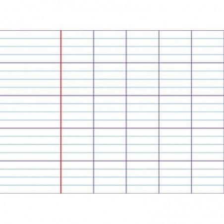 OXFORD Répertoire reliure piqûre 17x22 cm 96p seyes papier 90g Coloris aléatoire