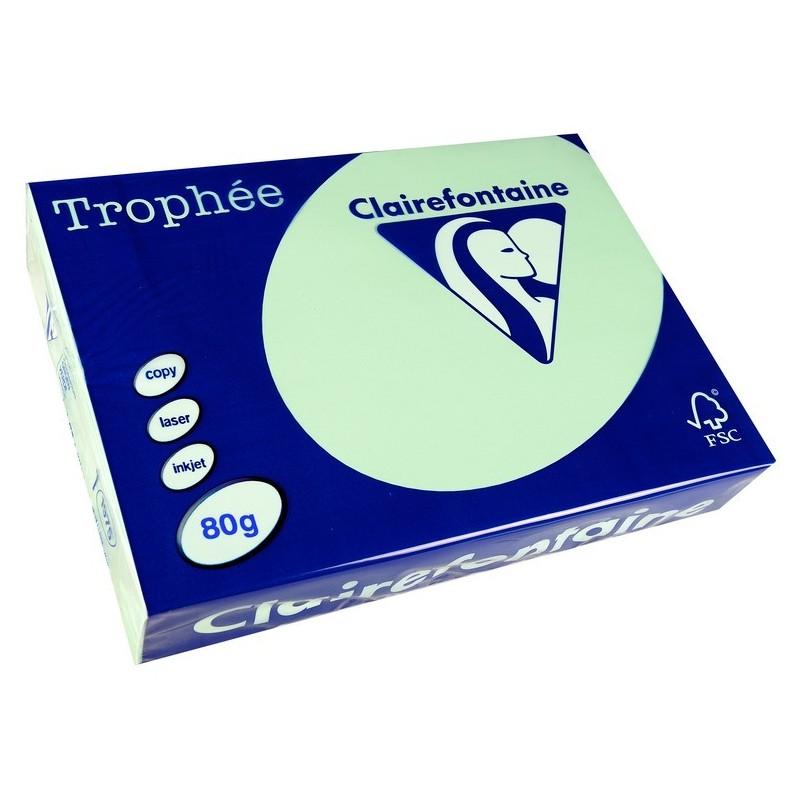 TROPHÉE Ramette 500 Feuilles Papier 80g A4 210x297 mm Certifié FSC  VERT