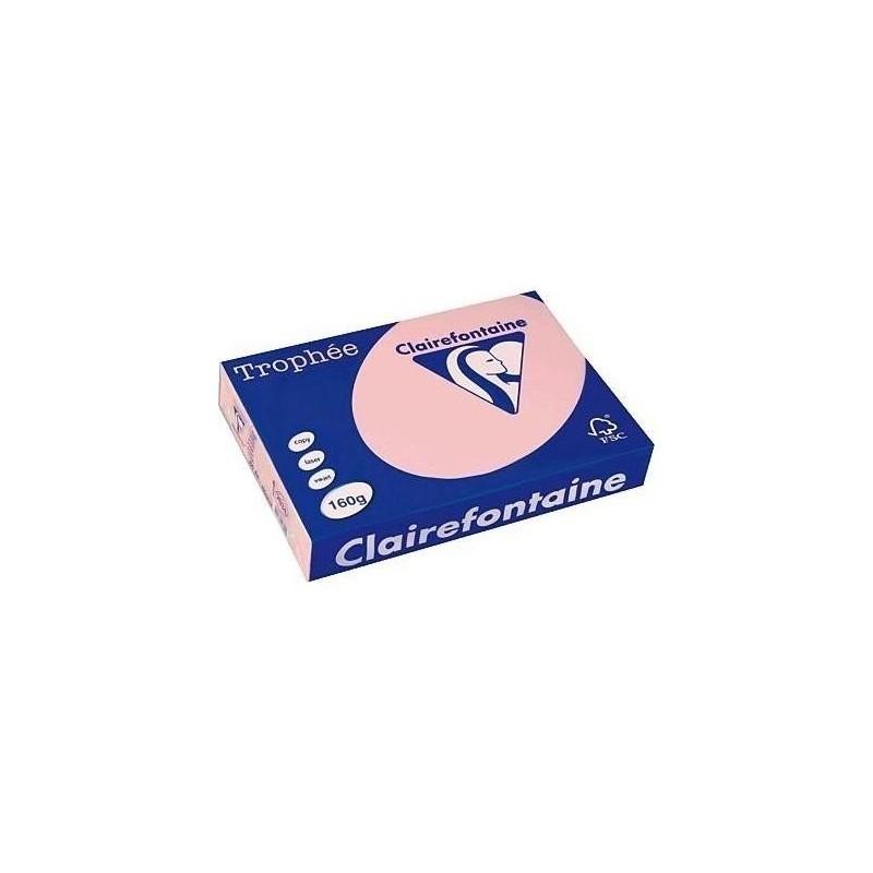 TROPHÉE Ramette 250 Feuilles Papier 160g A4 210x297 mm Certifié FSC  ROSE