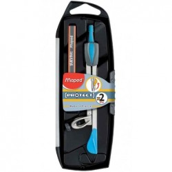 MAPED Coffret compas Protect Origin 130 mm pour crayon