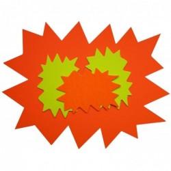 """AGIPA paquet de 50 étiquettes """"étoiles"""" 80x120 mm non effaçable (25 jaune,25 orange)"""