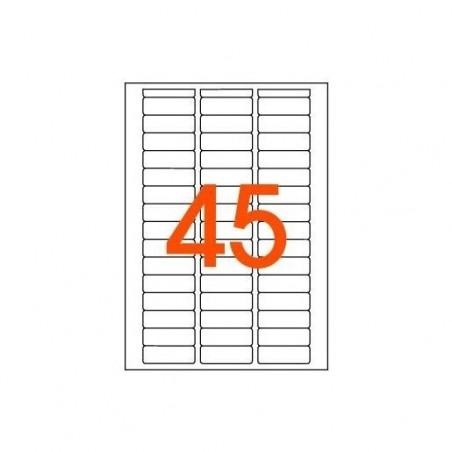 AGIPA Etui A5 ( 16F ) de 720 étiquettes multi-usage Permanentes 12,8x38 mm Blanc