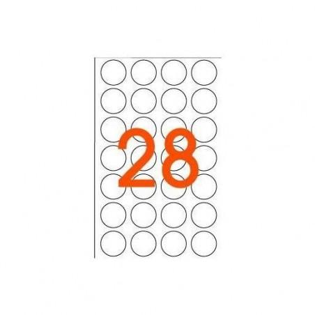 AGIPA Sachet de 168 étiquettes Gommettes de signalisation Rondes 15 mm Jaune
