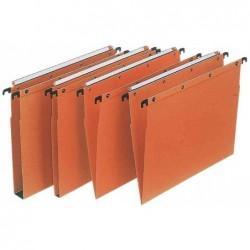 L'OBLIQUE AZ Boîte de 25 dossiers-suspendus AZO  pour tiroir Fond 15 mm. Kraft orange
