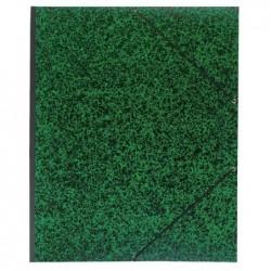 EXACOMPTA Carton à dessin B4 28X38 cm Vert Annonay avec elastique 541200
