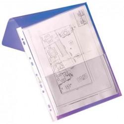 ELBA Sachet de 10 pochettes-plan PVC 30/100e soufflet de 20 mm