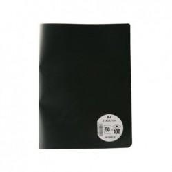 ELBA Protège-documents, format A4, avec 50 pochettes Noir