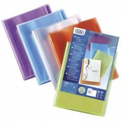 ELBA Lot de 20 Protège-documents personnalisable Polyvision A4 20 pochettes Assorti