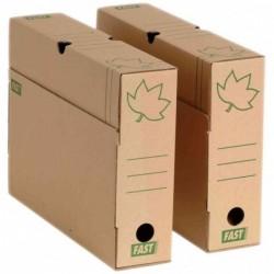 """FAST Lot de 10 boîtes archives """"Nature Line"""" Carton brun dos de 8cm"""