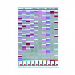 NOBO Kit de planning polyvalent 10 colonnes 54 fentes
