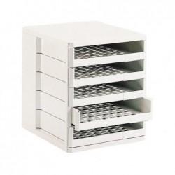ESSELTE module de classement standard, 5 tiroirs, gris clair pour format A4