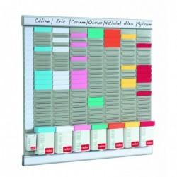 NOBO Kit Office Planner 8 colonnes 24 fentes inclus 700 fiches T2 100 fiches T1