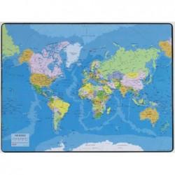 ESSELTE Sous mains carte du Planisphère 40x53cm