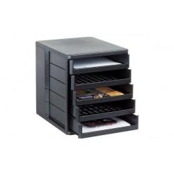 ESSELTE module de classement Standard, 5 tiroirs, noir,