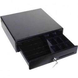 OLYMPIA Tiroir caisse petit modèle 33x33x10 cm 13 comp. serrure à clé Noir