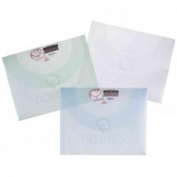 CANSON Paquet de 10 pochettes de rangement à dessin 370 x 470 mm Plastique Assortis