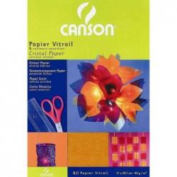 CANSON Papier vitrail 5 feuilles A4  210 x 297 mm  40 g/m2