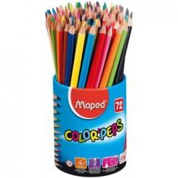 MAPED crayons couleur COLOR'PEPS triangulaire pot de 72