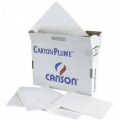 "CANSON Lot de 30 cartons plume ""Classic"" 500 x 650 mm Blanc 3 mm"
