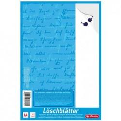 HERLITZ Bloc de papier buvard au format A4, 80 g/m2, blanc