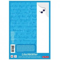 HERLITZ Bloc de 10 papiers buvards format A5 80 g Blanc