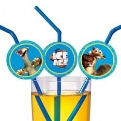 """SUSY CARD Paille """"Ice Age"""", souple, en plastique"""