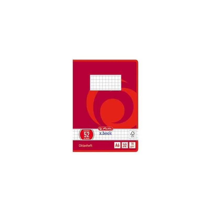 HERLITZ Cahier octave x.book, A6, quadrillé, 70 g/m2, 32 feuilles