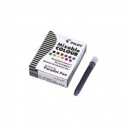 PILOT Lot de 12 cartouches d'encre pour stylos Parallel 12 couleurs