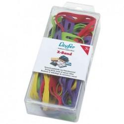 LÄUFER bracelets élastiques en crois en boîte 69232, 80 x 11 mm, 30 g