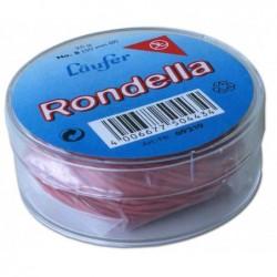 LÄUFER Elastique RONDELLA en boîte de 25 g, 65 mm, rouge