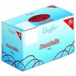 """LÄUFER carton de 50 g d'anneaux en caoutchouc """"RONDELLA """" 50 mm, rouge"""