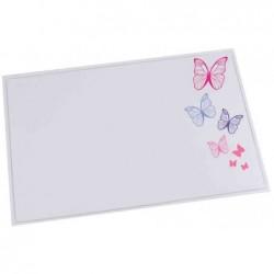LÄUFER Sous-mains DURELLA EMOTION 40 x 60 cm Lavable motif: butterfly