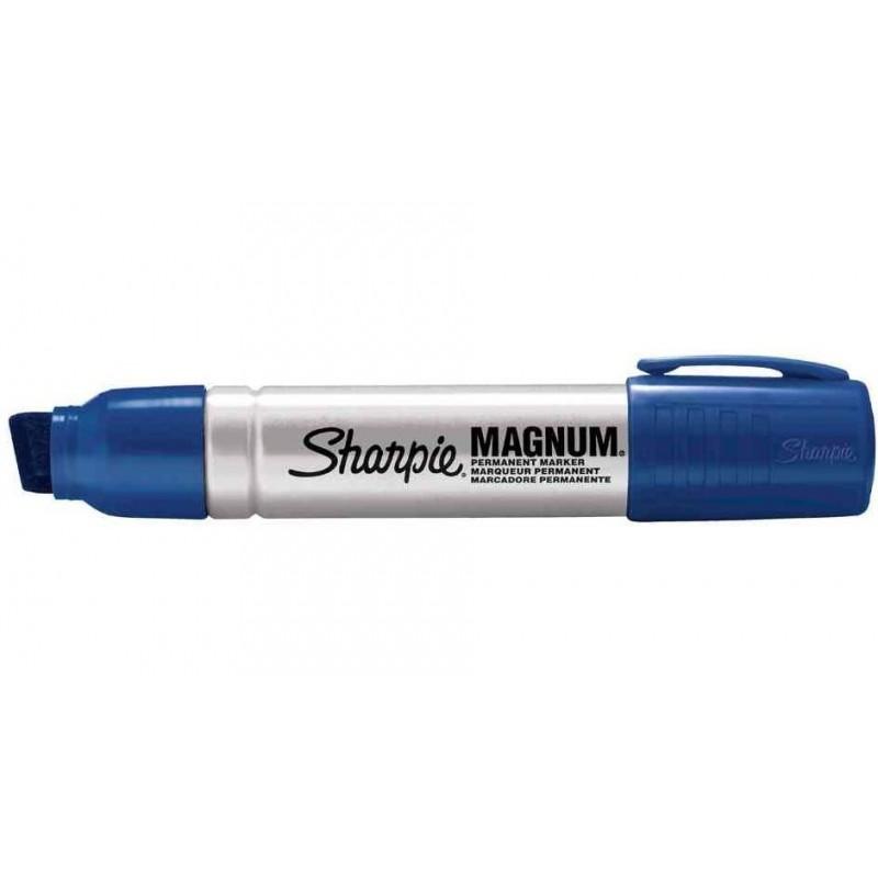 SHARPIE Marqueur permanent METAL MAGNUM pointe biseau Bleu