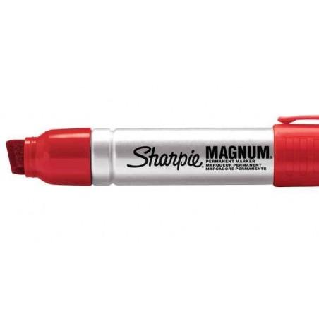 SHARPIE Marqueur permanent METAL MAGNUM, pointe biseautée, rouge
