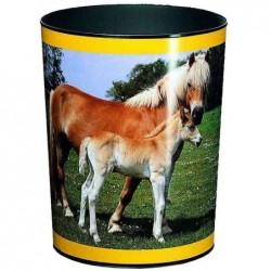 LÄUFER Corbeille à papier Plastique H 30 cm cheval et poulain