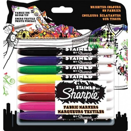 "SHARPIE étui de 8 marqueurs textiles ""STAINED"""