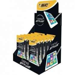 BIC présentoir de comptoir de 12 stylets Cristal Stylus