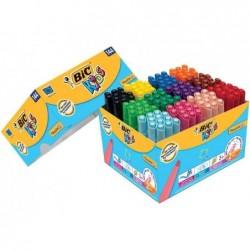 BIC boîte en carton de 144 Feutre KIDS Visacolor XL
